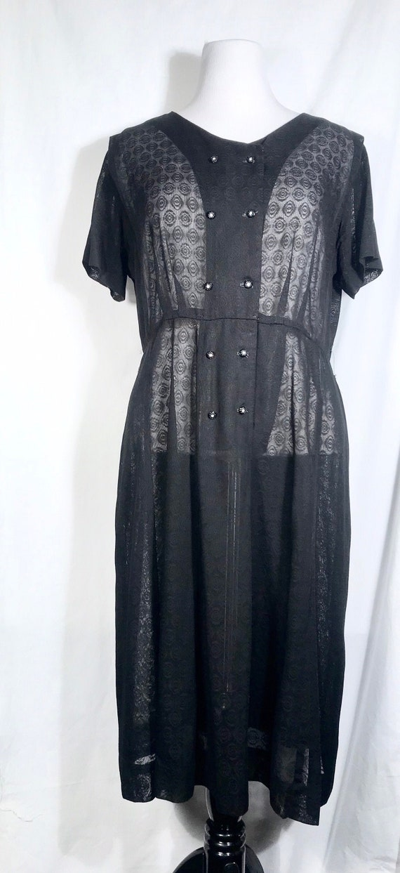 Vintage 50's sheer print gown