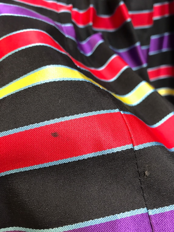 Gunne sax 80's vintage strapless striped party dr… - image 8