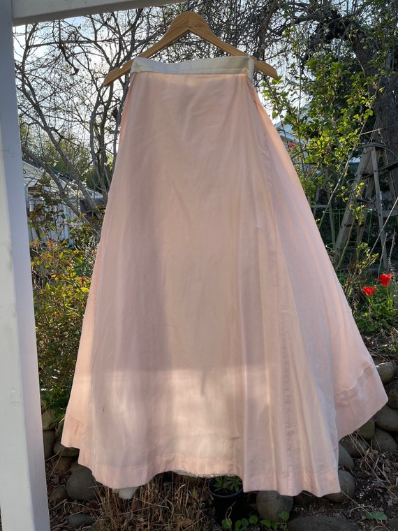 Amazing silk petticoated circle skirt from pro the