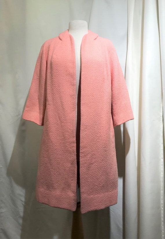Candy pink vintage mid length coat