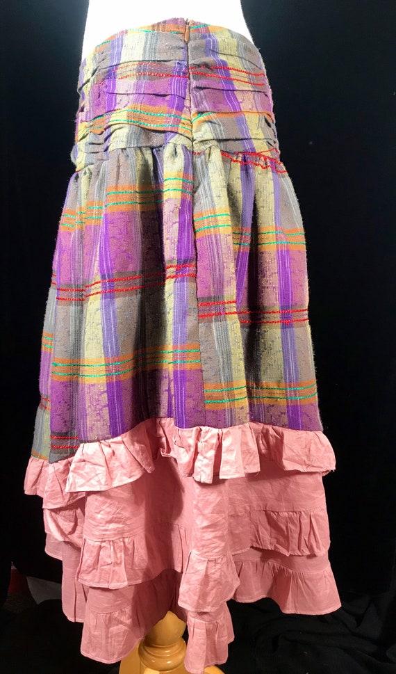 Vintage fairycore y2k plaid layered skirt by Rebl - image 4