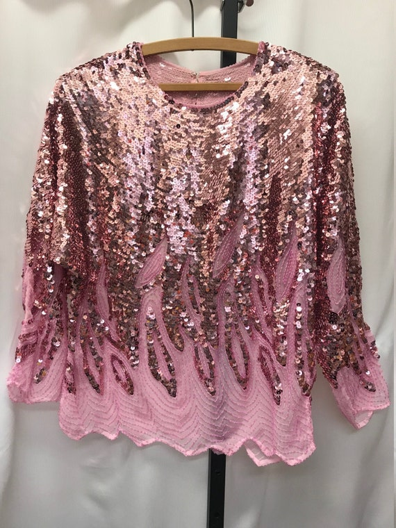 Vintage 1980's sequin and beadwork batwing sleeved