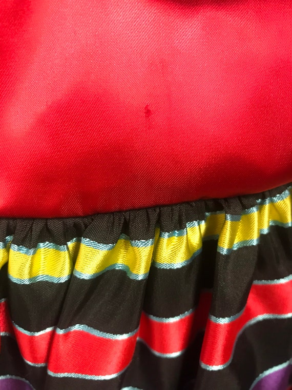 Gunne sax 80's vintage strapless striped party dr… - image 9
