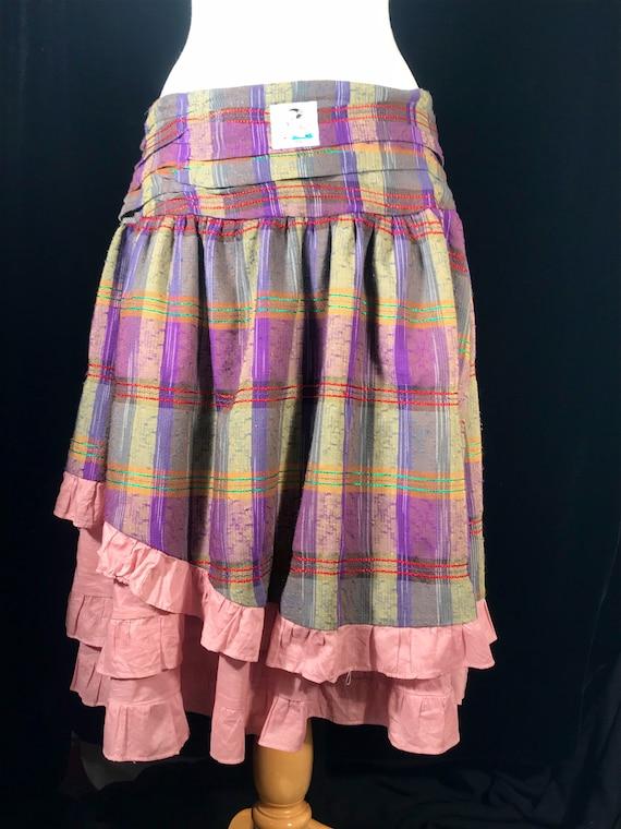 Vintage fairycore y2k plaid layered skirt by Rebl - image 3