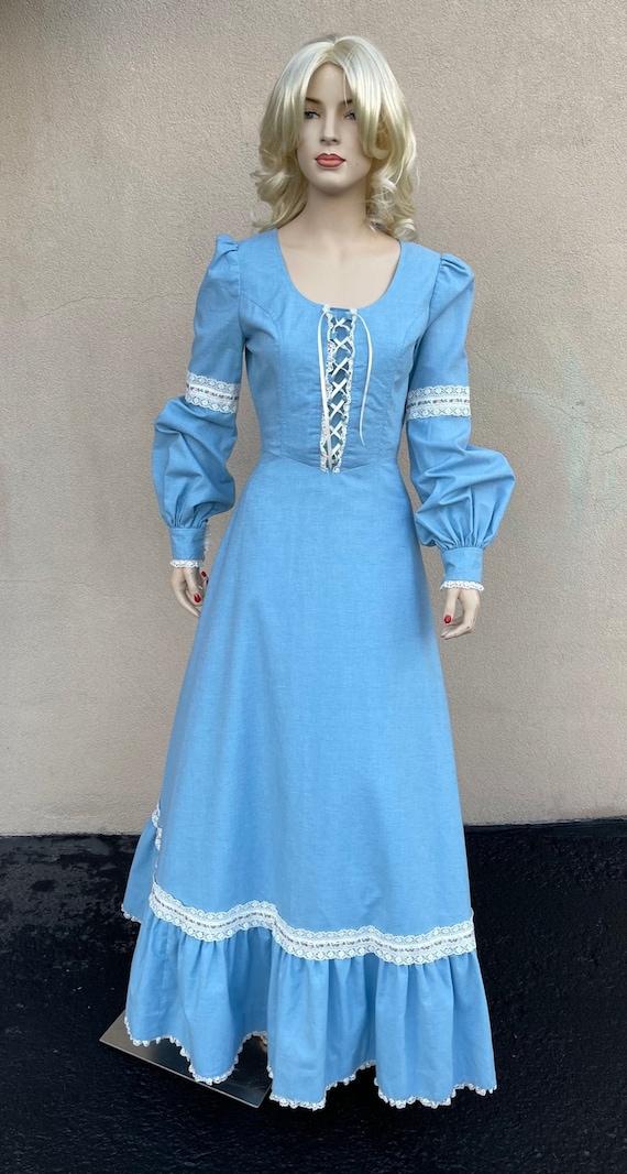 70's vintage Gunne Sax style handmade peasant dres