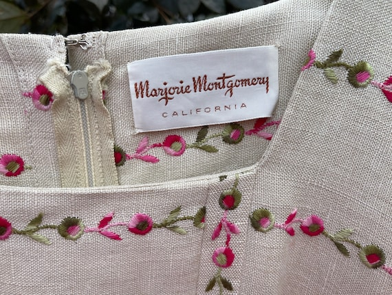 Rare Marjorie Montgomery belted floral dress