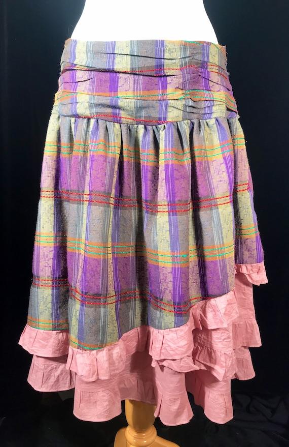 Vintage fairycore y2k plaid layered skirt by Rebl - image 2