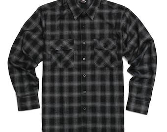 YAGO Men/'s Casual Plaid Flannel Long Sleeve Button Down Shirt Jacket GrayKhaki S-5XL 14D