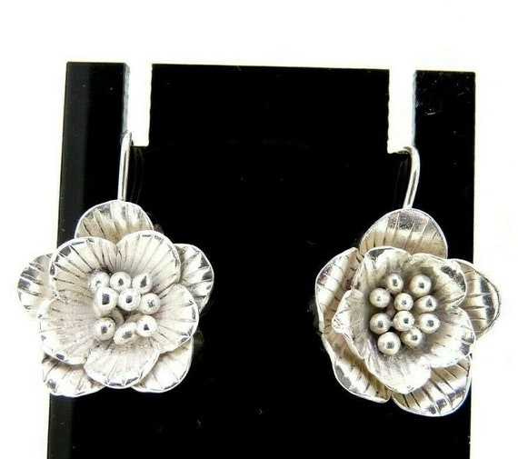 SPRING SALE 20/% OFF Vintage Chinese Ceramic earrings Sterling silver.