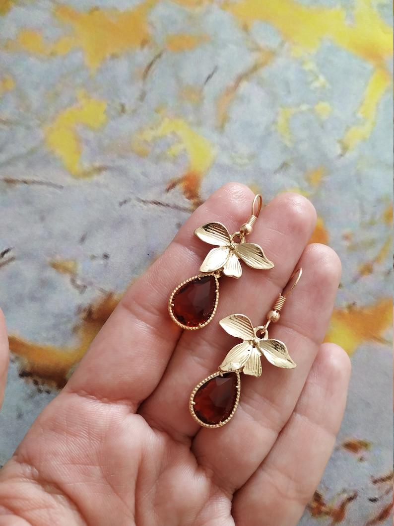 Boho Bridal Earrings Boho Wedding Earrings Leaf Bridesmaid Earrings Crystal Bridal Earrings Gold and Turquoise Wedding Earrings