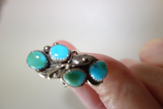 LW silver turquoise ring
