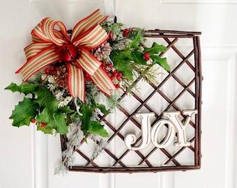 Christmas Joy Door Hanger, Christmas Door Hanger, Rustic Christmas Wreath, Cabin Christmas Decoration, Christmas Joy Door Hanger