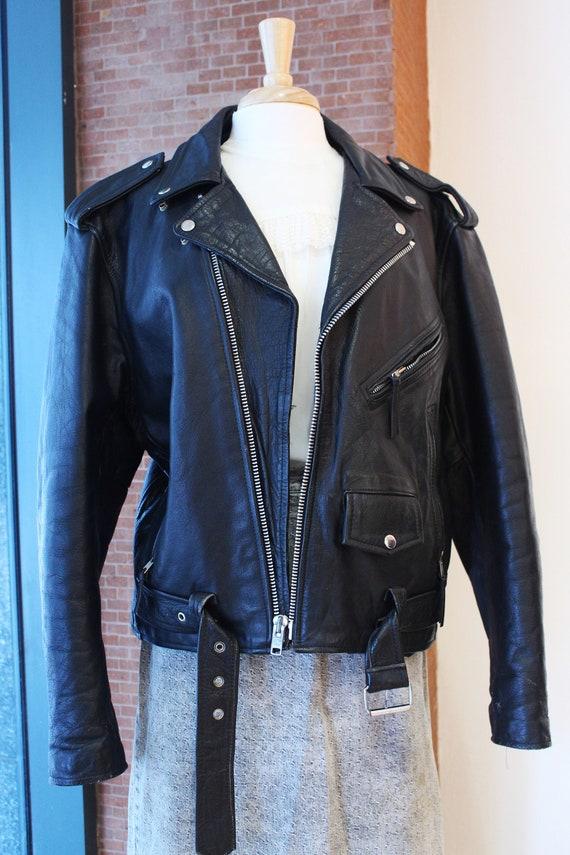 FMC Leather Moto Jacket