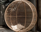Hanging And Standing Rattan Chair Ball SWING 2 options - 100 NATURAL RATTAN