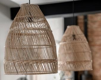 ROLLO LAMP- handmade, natural rattan, lighting, rattan lamp, natural lamp, interior design, indoor lamp