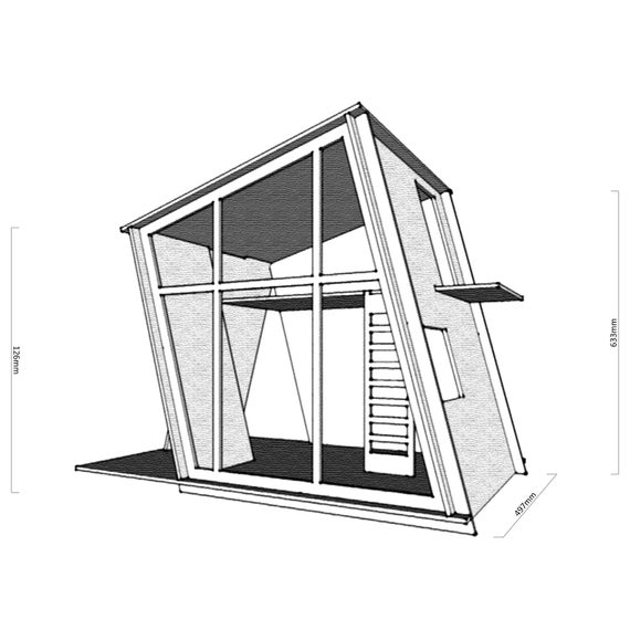 1:6 Miniature Cabin Type 01/_Vector file for cnc laser cutting Dollhouse dxf, eps, ai, svg file