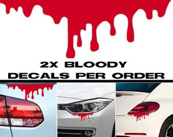 2X Bloody Decal Stickers