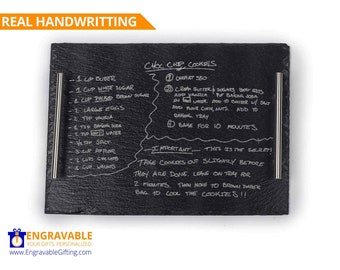 Handwritten Recipe Serving Tray, Personalized Slate Cheese Board, Housewarming Gift, Christmas Gift, Gift For Mom, Grandma's Handwriting