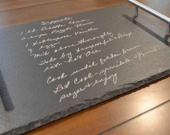 Handwritten Recipe Platter, Christmas Gift, Gift For Mom, Family Recipe Plate, Gift For Mom, Grandma's Handwriting, Personalized Platter