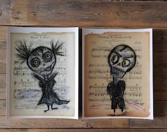 Wall Vinyl Sticker Bedroom Decal Zomby Skull Girl Horror Halloween Z1939