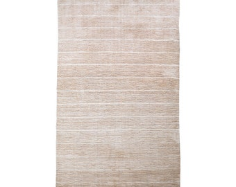 Hand Knotted Gabbeh Silk Mix Area Rugs Contemporary Gold Beige BBH Homes BBLSM1223
