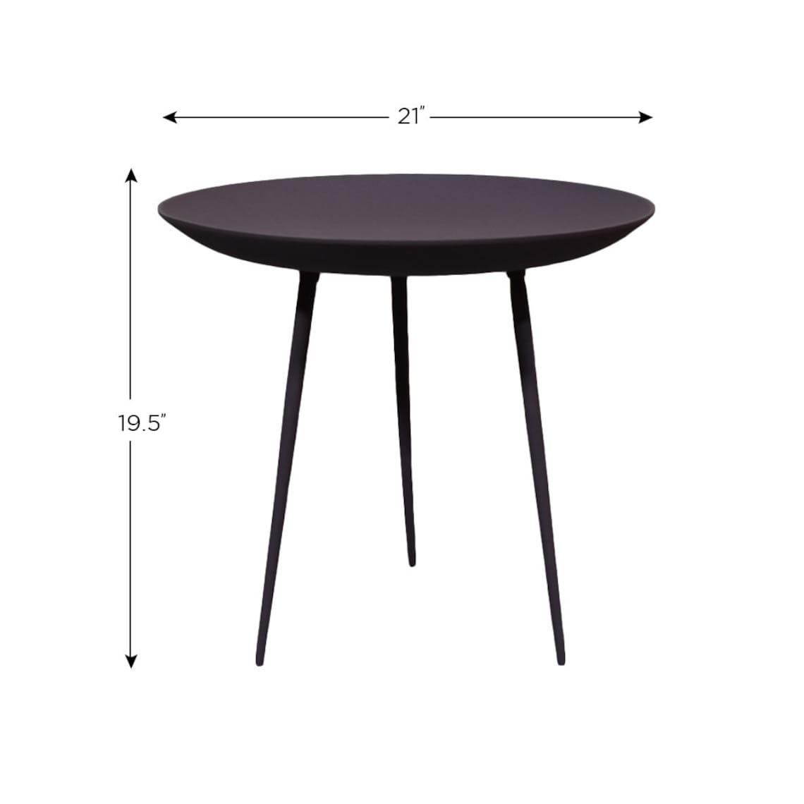 Handmade Modern Side Table Aluminium & Iron Round Purple