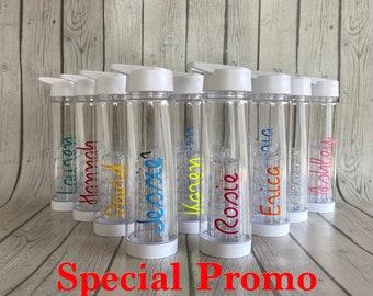 Love Island Inspired Water Bottle Name Vinyl Sticker XXL Sparkle Glitter Holo