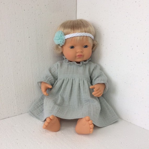 Dolls clothes made to fit 38cm Miniland  Dolls Sleeveless Dress size Small
