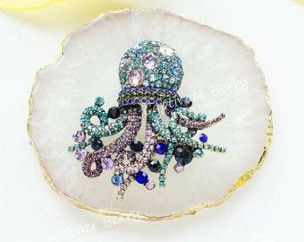 Heidi Daus Deep Sea Dazzler Crystal Octopus Pin Brooch