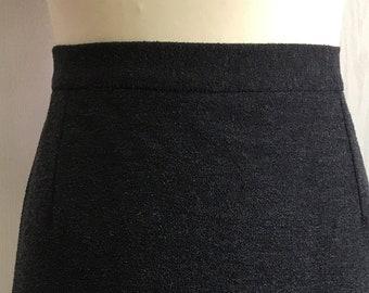 Women's Vintage 80's skirt   100% wool skirt   grey skirt   lined skirt   pencil skirt   Size L