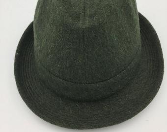 Men's 60's Vintage men's Loden Trilby hat    Loden  hat   Men's fedora   men's chapeau   walker hat   Hat by Oxford hats   Made in France
