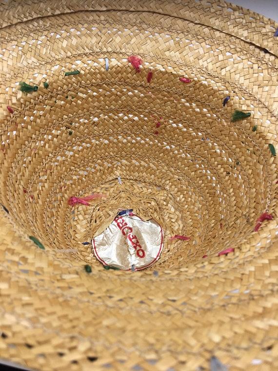 Child's 60's Vintage straw hat | straw bucket hat… - image 4