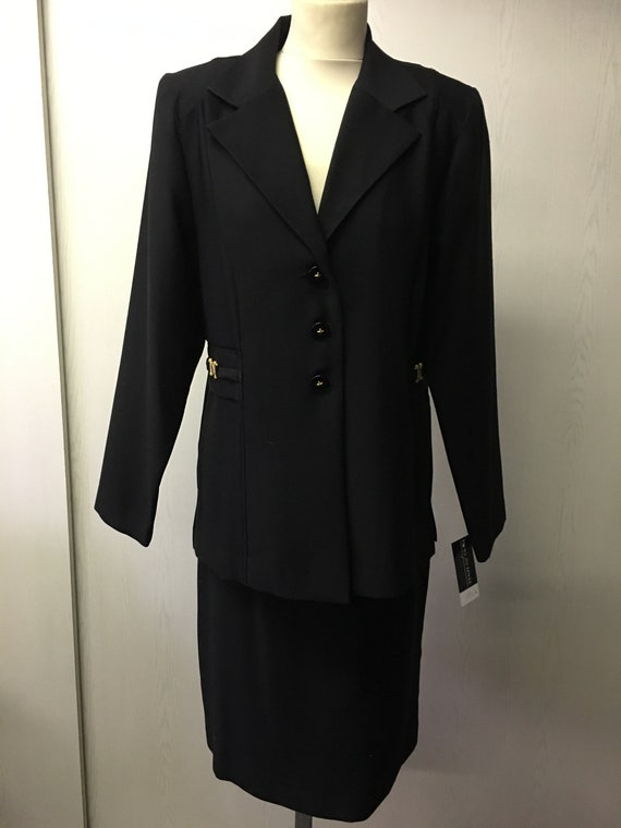 Women's 80's Vintage suit | Black skirt suit | For