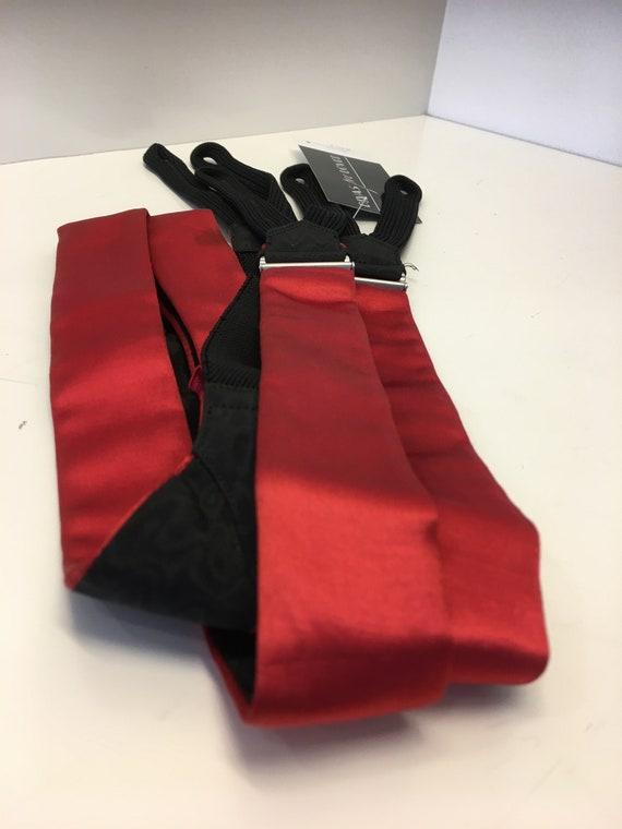 Men's Vintage 1950's suspenders | silk  suspenders