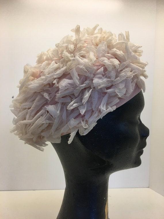 Women's Vintage 60's pillbox hat | pink pillbox ha