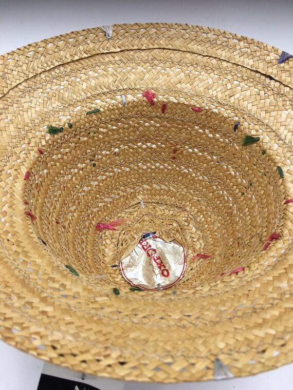 Child's 60's Vintage straw hat | straw bucket hat… - image 3