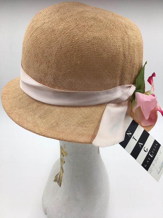 Women's 70's summer hats | Straw cloche hats | Su… - image 3