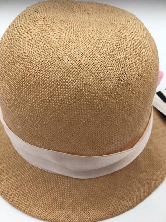Women's 70's summer hats | Straw cloche hats | Su… - image 2