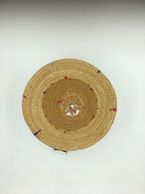 Child's 60's Vintage straw hat | straw bucket hat… - image 2