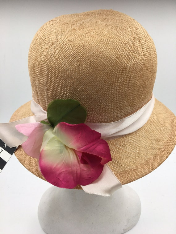 Women's 70's summer hats | Straw cloche hats | Su… - image 1