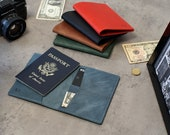 Leather Passport Wallet, Passport Cover Personalized, Passport Documents Organizer, Customized Leather Passport Holder with Card Pockets