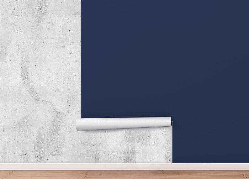 Peel And Stick Wallpaper Dark Blue solid color Wallpaper ...