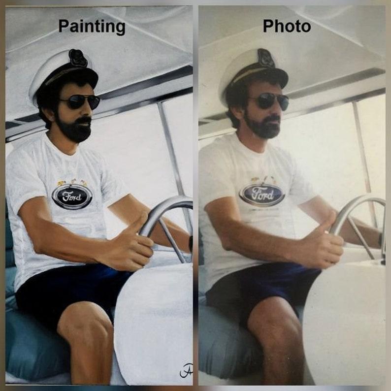 Hand painted portraitOriginal Oil painting Custom image 1