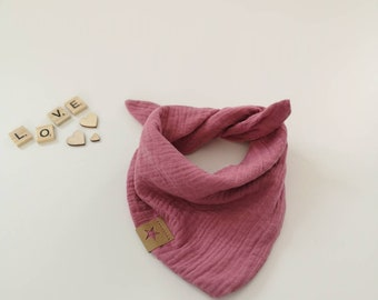 SEIDENSCHAL chiffon rosa fuxia 100/% reine Seide 180x55cm