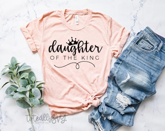 Daughter Of The King. Christian SVG File. Faith SVG Quote. Cut File for Silhouette or Cricut