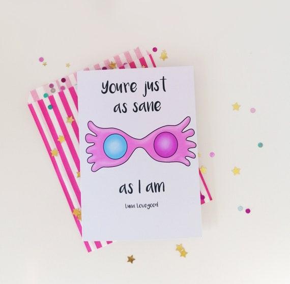 Luna Lovegood Greetings Card, Magical Birthday Card, Harry Potter Inspired Card, A5 Card
