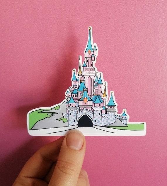 Disneyland Paris Castle Matte Vinyl Sticker, Die Cut Vinyl Sticker, DLP Sticker, Sleeping Beauty Castle Sticker, Laptop Sticker, Disney