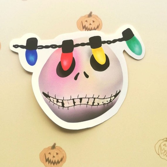 What's This Jack Skellington Inspired Matte Vinyl Sticker, Vinyl Sticker, Halloween Sticker, Jack Skellington, Nightmare before Christmas