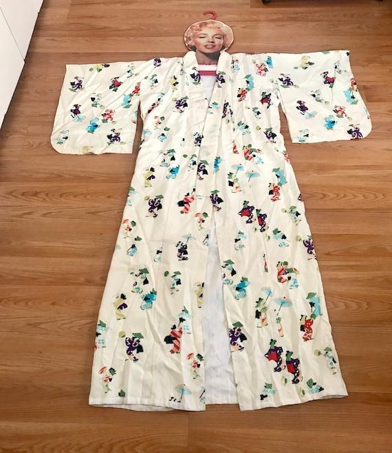 Vintage Women's Novelty Print Kimono