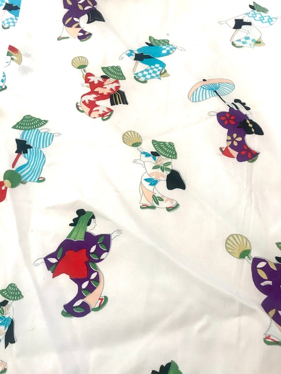Vintage Women's Novelty Print Kimono - image 3